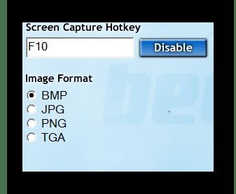 форматы захвата изображения Fraps