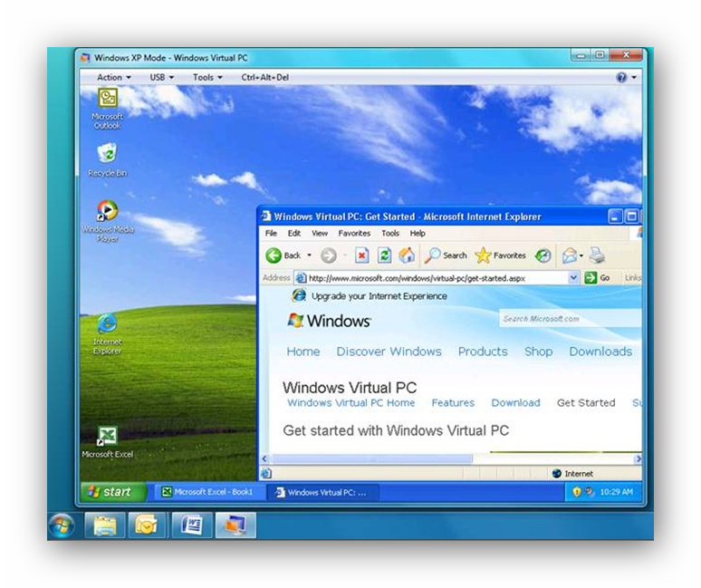 Эмуляция Windows Xp Windows 7