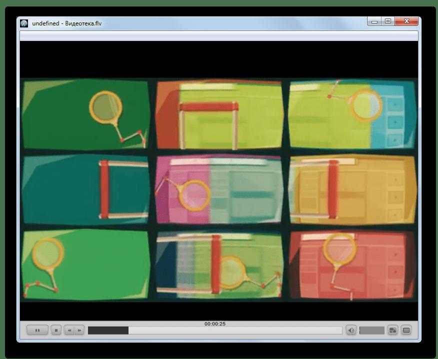 Проигрывание видео FLV в программе FLV-Media-Player