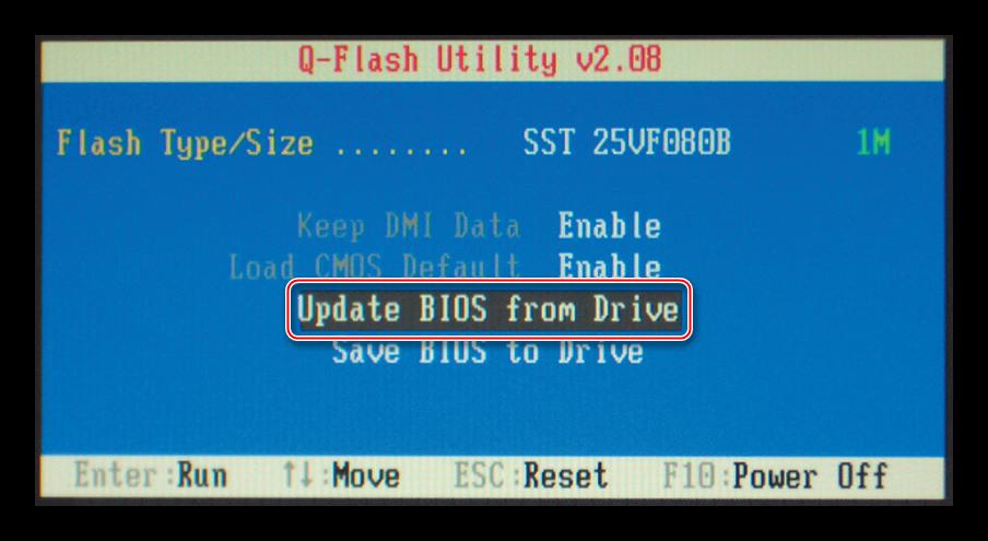 Q-Flash интерфейс