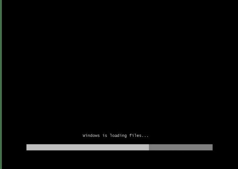 Загрузка файлов при установке Windows 7