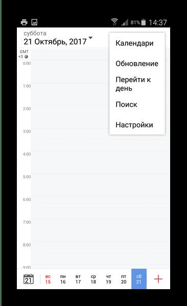 Настройки отображения в Tiny Calendar