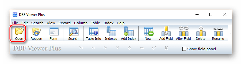 Открыть файл DBF Viewer Plus