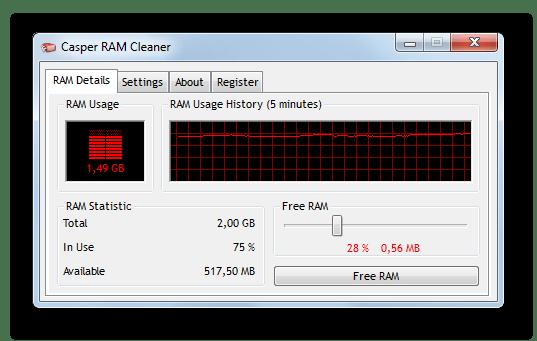 Приложение RAM Cleaner
