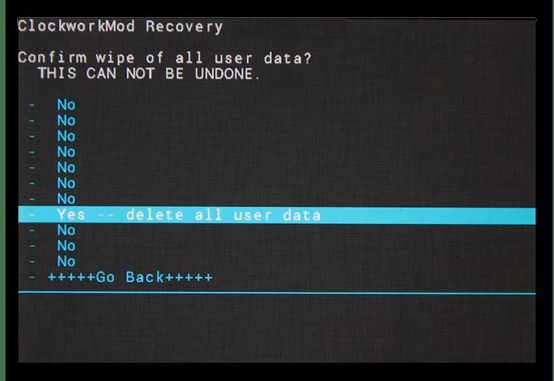 Удаление всех данных на Android