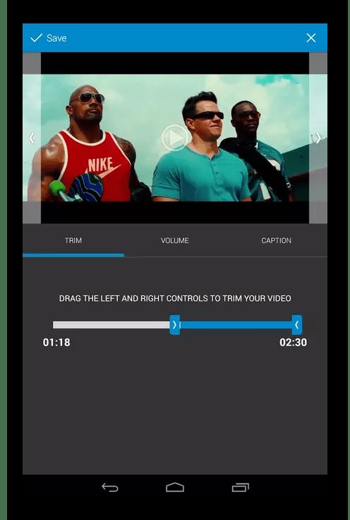 Редактирование видео на Android через программу WeVideo