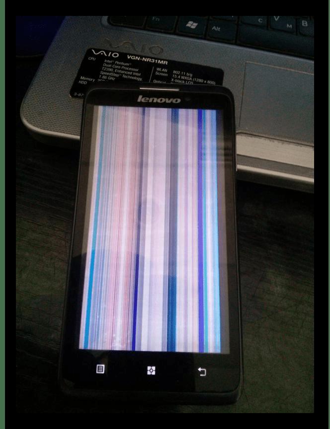 Сломанный экран в телефоне