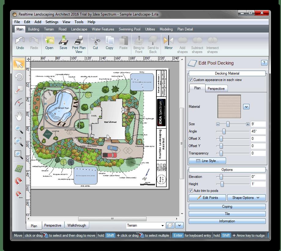 Использование Realtime Landscaping Architect