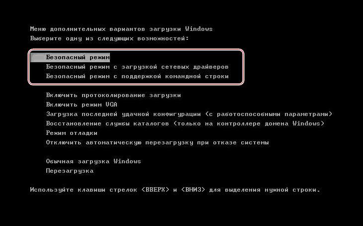 Процесс перехода в безопасный режим загрузки Виндовс через BIOS