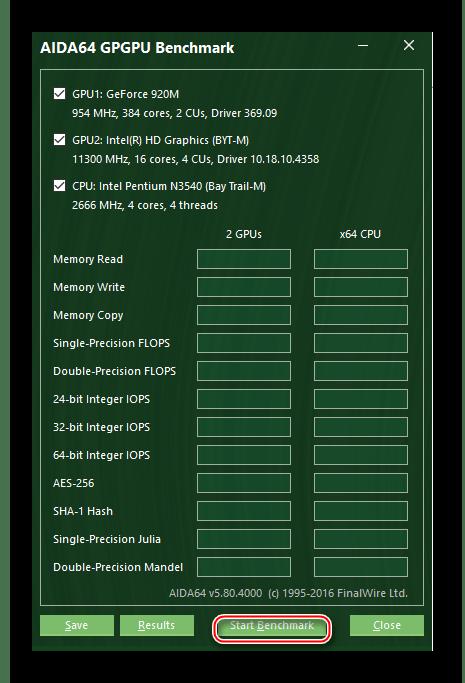 Тестирование производительности процессора в программе AIDA64