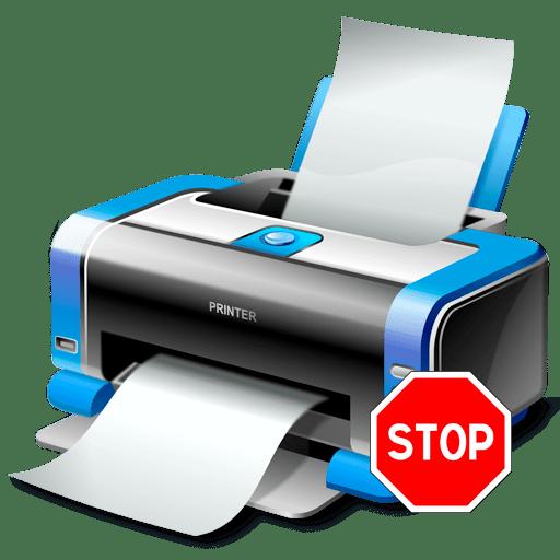 как отменить печать на принтере