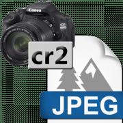 Как конвертировать cr2 в jpg