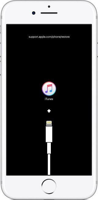 iPhone в режиме восстановления