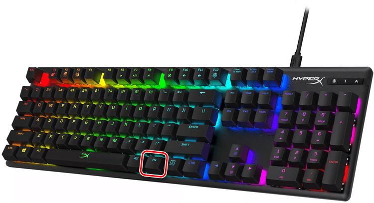 Наличие клавиши FN на клавиатуре