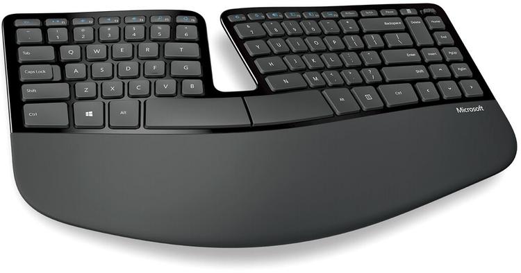 Пример эргономичной клавиатуры