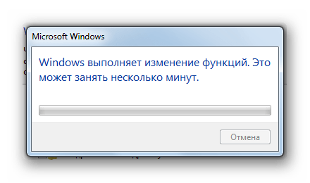 Процедура включения клиента и сервера Telnet в Windows 7