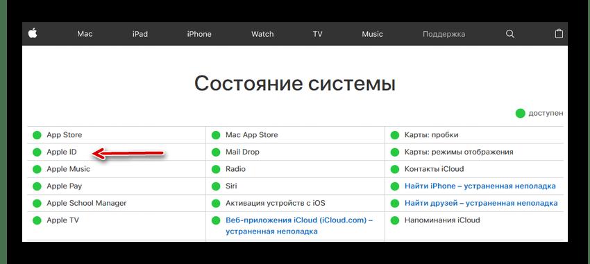 Проверка серверов компании Apple