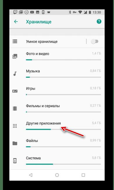 Пункт Другие приложения