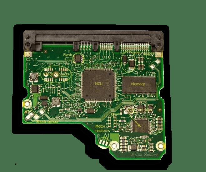 Интегральная микросхема в более близком рассмотрении в HDD