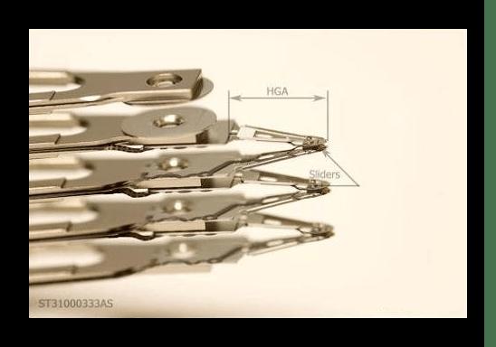 Классическая конструкция коромысла в HDD