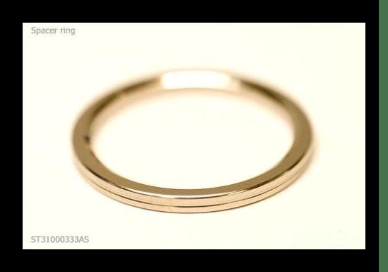 Разделительное кольцо крупным планом