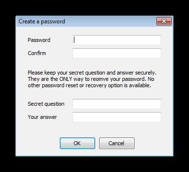 Создание пароля для профиля в Any Weblock