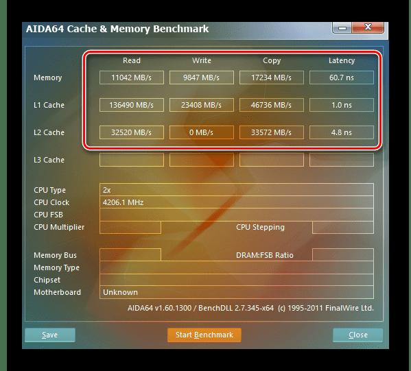 Тест памяти в AIDA64
