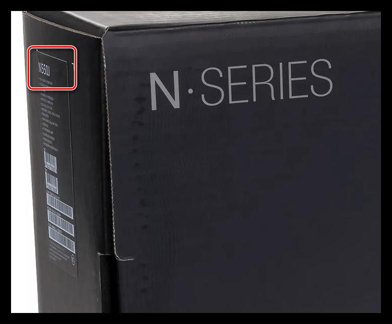 Название модели ноутбука ASUS на упаковке