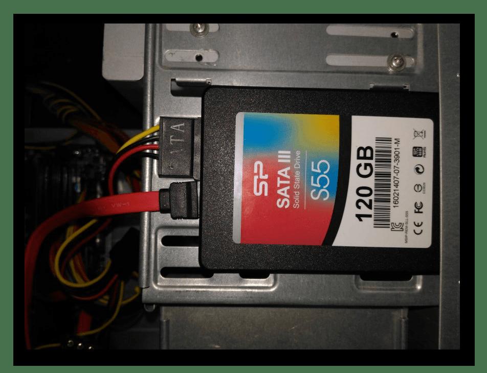 Процесс подключения SDD диска на ПК