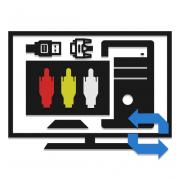 Как подключить компьютер к телевизору через тюльпан