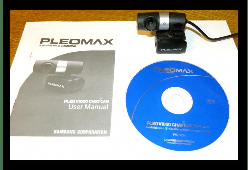 Пример веб-камеры с диском