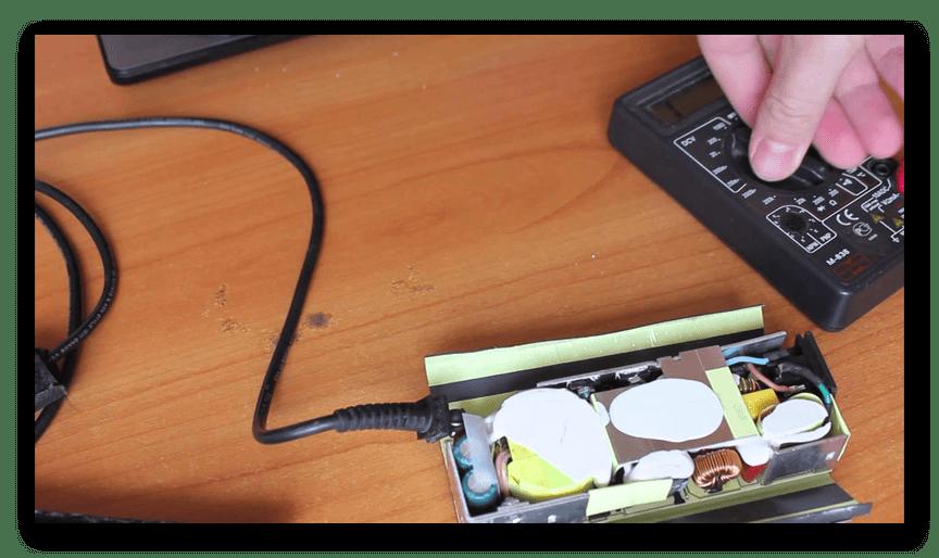 Починка платы адаптера питания от ноутбука