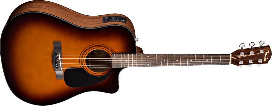 Пример акустической гитары со звукоснимателем