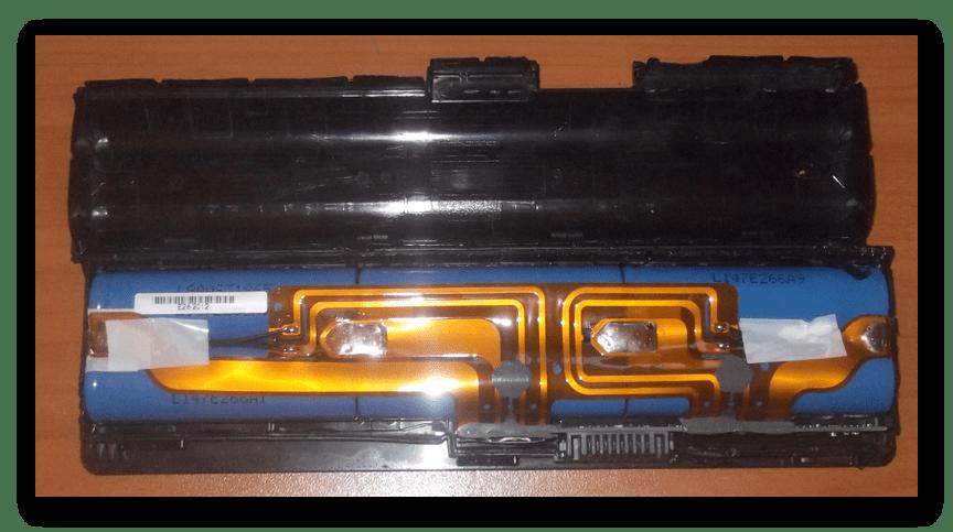 Успешное открытие аккумулятора от ноутбука