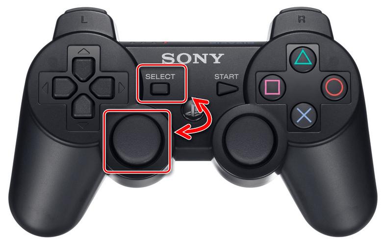Использование сочетания клавиш на геймпаде PS3