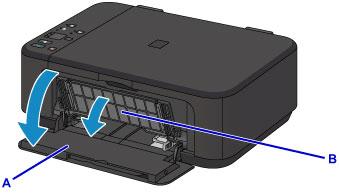 Открыть боковую крышку принтера марки Canon