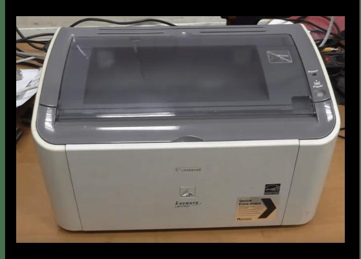 Открыть верхнюю крышку принтера Canon