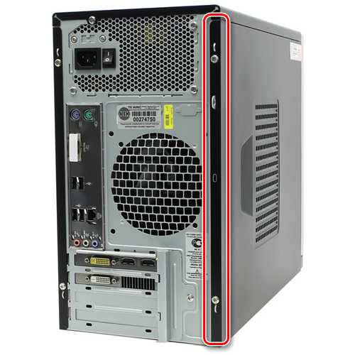 Открытие системного блока компьютера