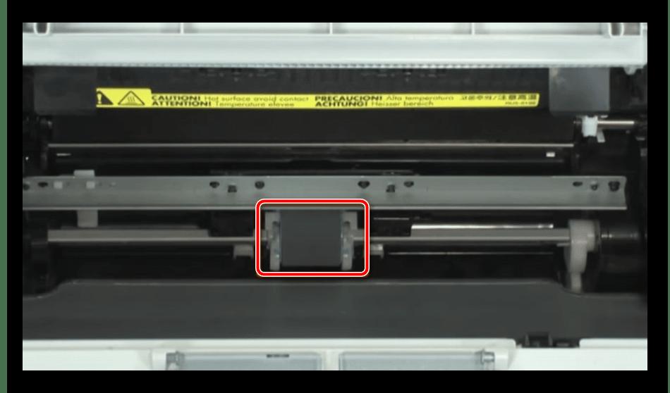 Поиск ролика захвата в принтере