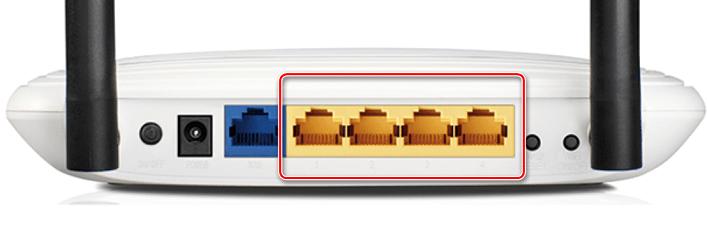 Порты LAN на роутере TP-Link