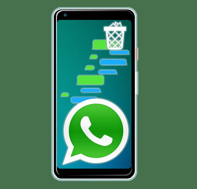 Удаление сообщений у собеседника в WhatsApp на Android