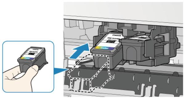 Установка нового картриджа для принтера