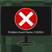 Как исправить ошибку CLR20r3 в Windows 7