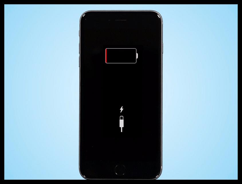 Полностью разряженный iPhone
