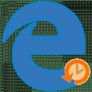 Просмотр истории в браузере Edge
