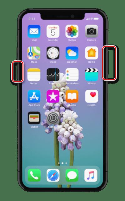 Ввод iPhone X в режим DFU