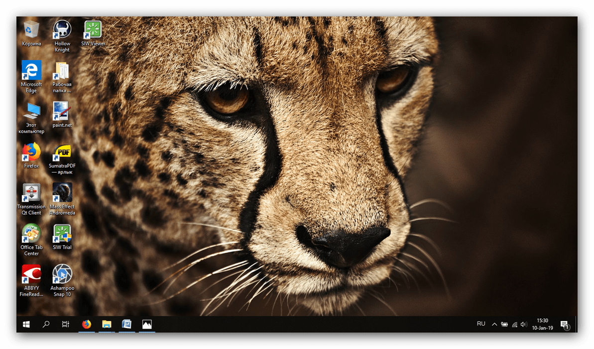 Установленное изображение на рабочий стол для обхода ограничений персонализации неактивированной Windows 10