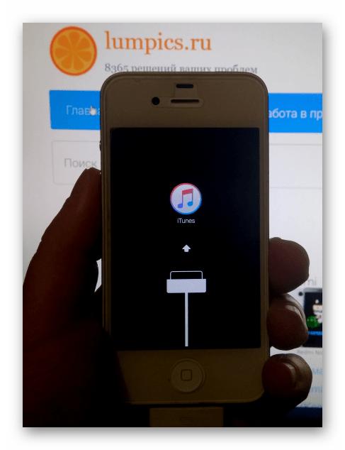 Apple iPhone 4S переключение девайса в Recovery Mode