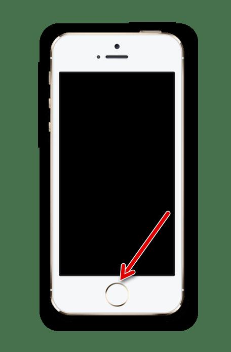 Нажатие по кнопке Домой для активации функции Гид-доступ на iPhone
