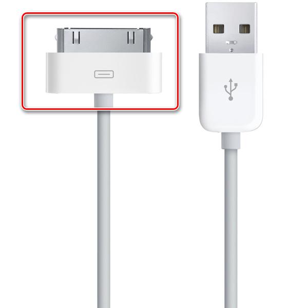 30-пиновый коннектор для подключения старых моделей iPhone к компьютеру и зарядки